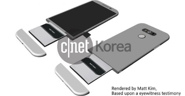 LG G5, nuovo design per far spazio alla batteria estraibile