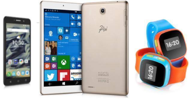 Alcatel presenta un tablet Windows 10 e smartphone Android Pixi al CES 2016