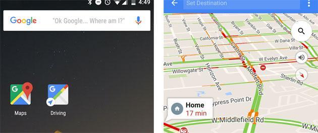 Google Maps con Driving Mode prevede la prossima destinazione