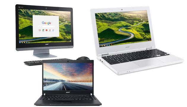 Acer a CES 2016: Chromebase 24 con CPU Intel Core, nuovi computer portatili, tablet Android Iconia One 8