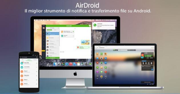 Come controllare il dispositivo Android da PC con AirDroid