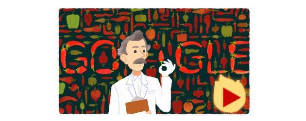 Google, doodle piccante per il chimico Wilbur Scoville