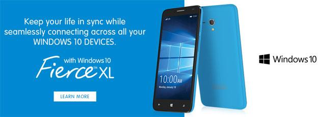 Alcatel Fierce XL, smartphone Windows 10 con display 5,5 HD