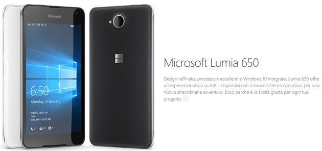 Lumia 650 senza Continuum, Microsoft spiega perche'