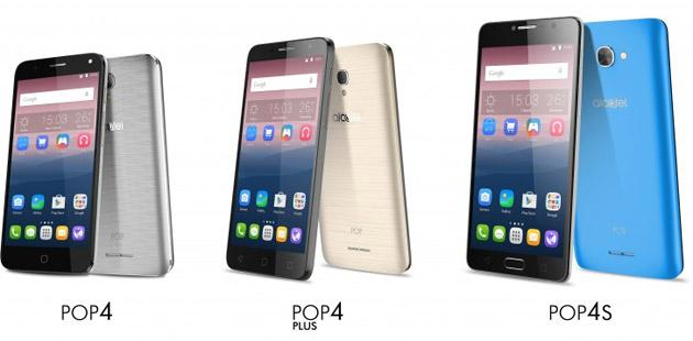 Alcatel annuncia Pop 4, Pop 4 Plus e Pop 4S