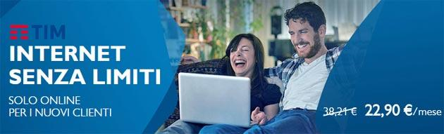 TIM Internet Senza Limiti in promozione da 22,90 euro al mese