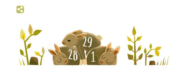 Google Doodle al 2016 come Anno bisestile