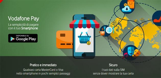 Vodafone Pay per pagare via smartphone integra Paypal