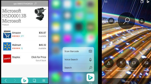 Microsoft Bing per iPhone e Android ottenere importanti aggiornamenti