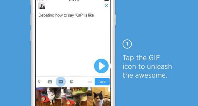 Come pubblicare una GIF animata su Twitter