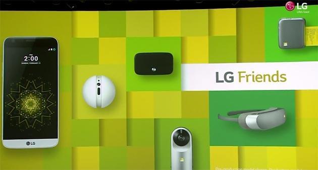 LG Friends: Rolling Bot, 360 Cam e 360 VR