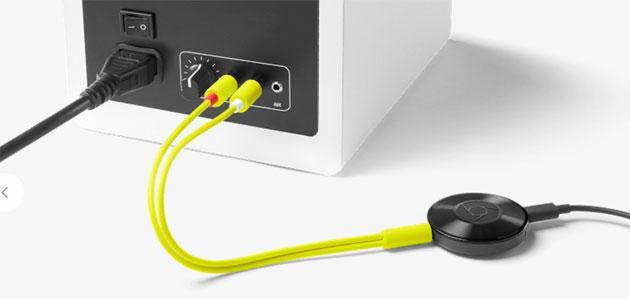 Chromecast Audio, disponibili Cavo RCA e Cavo ottico