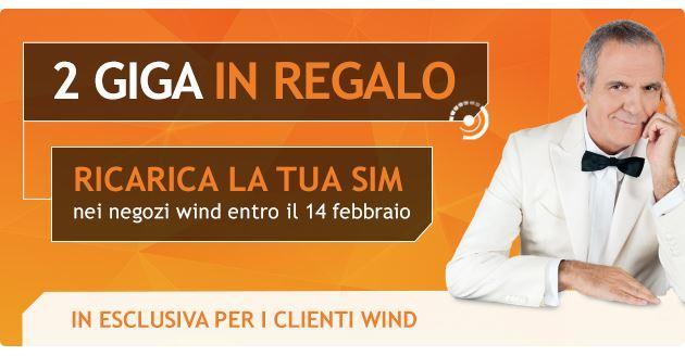 Ricarica Wind entro il 14 Febbraio, ci sono 2 GB in omaggio