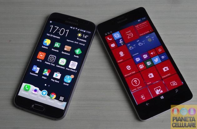 Samsung Galaxy S6 vs Microsoft Lumia 950, il nostro confronto