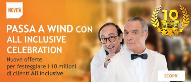 Wind festeggia 10 milioni di clienti All Inclusive