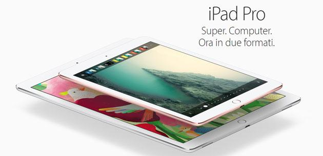 Confronto Apple iPad Pro 9.7 vs iPad Pro 12.9: le differenze
