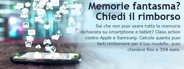 Altroconsumo, class action contro Apple e Samsung su falsa memoria dichiarata nei device