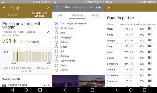 Google Destinations, agenzia viaggi nel motore di ricerca mobile