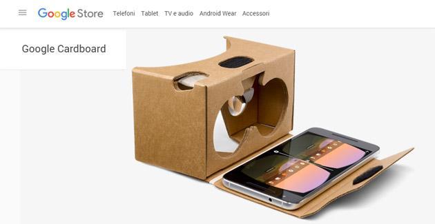 Visori VR Cardboard disponibili su Google Store in USA e Europa