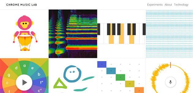 Chrome Music Lab, esperimenti musicali via browser