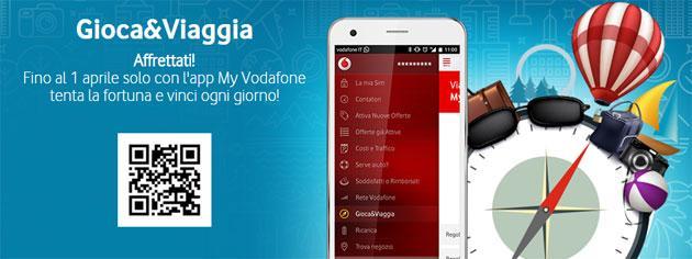 Vodafone, concorso Gioca e Viaggia fino al 1 aprile 2016