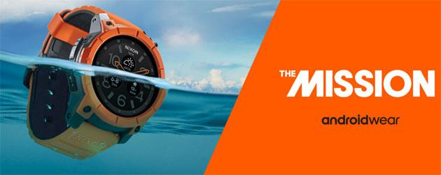 Nixon Mission, smartwatch Android Wear per sport estremi