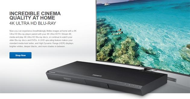 Samsung UBD-K8500, il primo lettore Blu-ray Ultra HD HDR