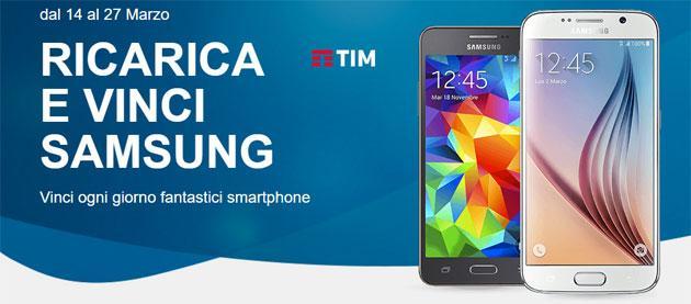 TIM Ricarica e Vinci smartphone Samsung