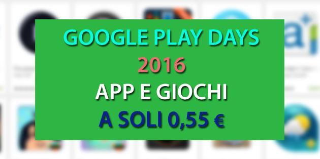 Google Play Days: tante App a soli 50 centesimi