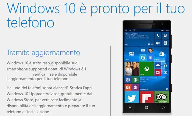 Come Aggiornare Windows 10 Mobile e su Quali Smartphone