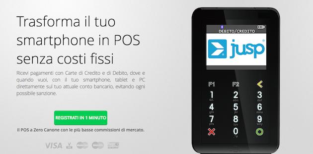 Jusp Smart Pos, ricevere pagamenti con carta mai cosi' semplice