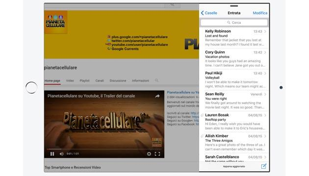 Foto YouTube per iOS supporta Slide Over e Split View su iPad