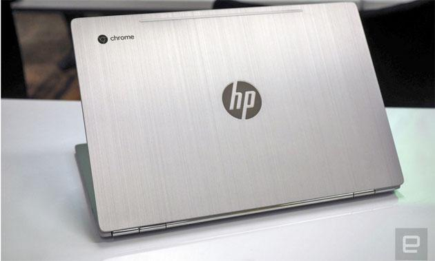 Foto HP e Google presentano Chromebook 13 tutto in metallo