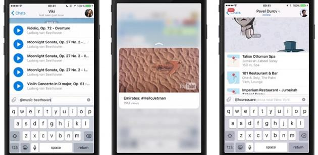 Telegram Bots 2.0, piattaforma per bot piu' creativi e funzionali
