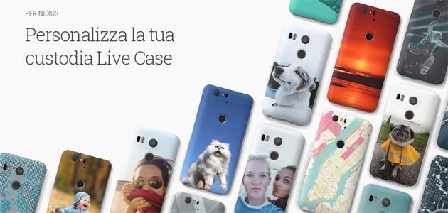Google Live Case, cover personalizzabili per Nexus