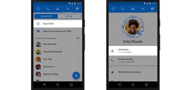 Facebook Messenger introduce Codici, Link e Username