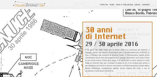 Internet Day: In Italia si festeggiano i 30 anni di Internet