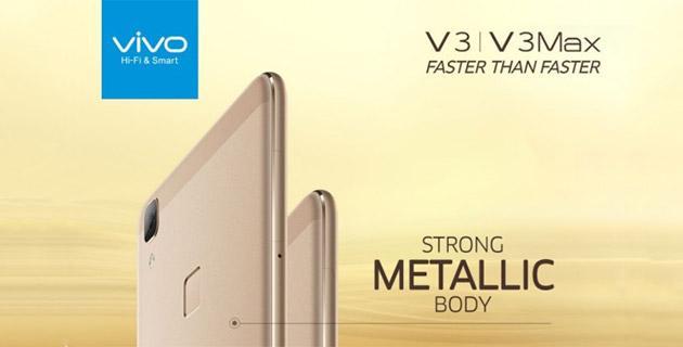 Vivo V3 e V3Max, smartphone Android 5 economici con corpo metallico
