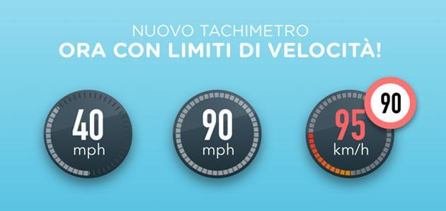 Waze segnala i Limiti di Velocita'