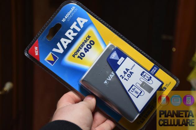 Recensione Varta Powerpack 10400 mAh, mai piu' batteria scarica
