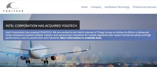 Intel compra YogiTech in Italia per migliorare sicurezza nei veicoli autonomi