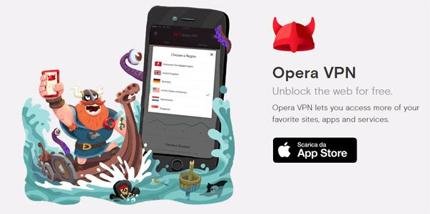 Opera VPN gratis e illimitato per Desktop e iOS