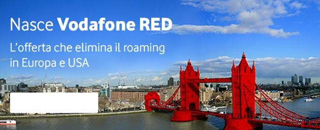 Vodafone RED, nuova offerta senza Roaming