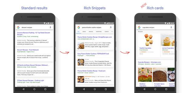 Google con Rich Cards evolve i risultati delle Ricerche Mobile