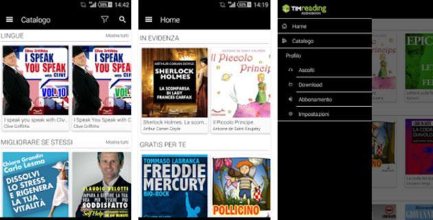TIMreading Audiobook per ascoltare audiolibri da Smartphone e Tablet