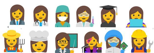 Google propone nuove emoji per parita' di genere