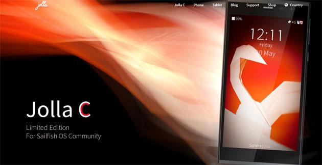 Jolla C, smartphone col nuovo Sailfish OS 2.0