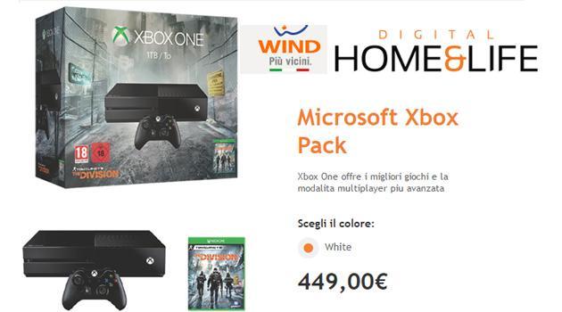 Wind Infostrada Xbox Pack: con 10 euro al mese Xbox One 1TB, due giochi e Live per un anno