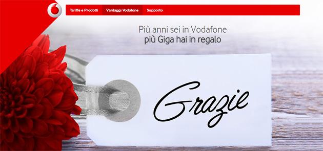 Vodafone Giga 4 You: fino a 10GB in regalo ai clienti da almeno 1 anno