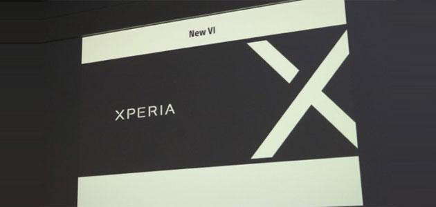 Sony serie Xperia X al posto di Xperia Z, C, M, E